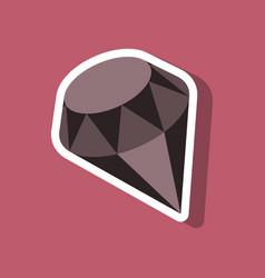 Paper sticker on stylish background diamond vector