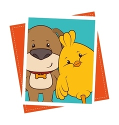 Pet and animals funny cartoon vector image vector image