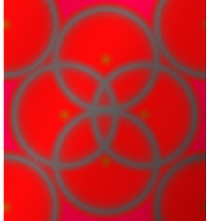 Red background with black circles vector image vector image