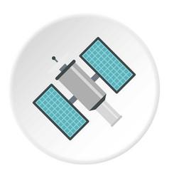 Satelite icon circle vector