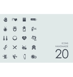 Set of handmade icons vector image