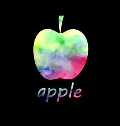 Sign watercolor apple vector