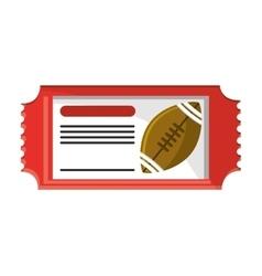 Ticket of american football design vector