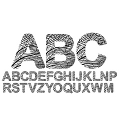 decorated letters vector image