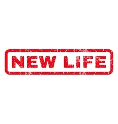 New life rubber stamp vector