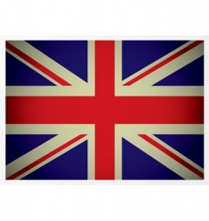 Aged british flag vector
