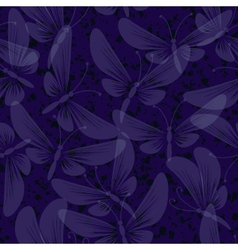 Night moth butterflies seamless background vector