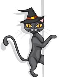 hallowen cat vector image