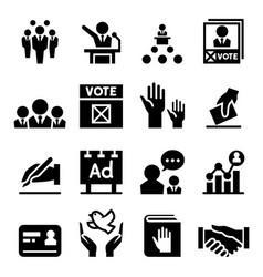Democracy election icon vector