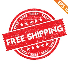Stamp sticker free shipping collection - - vector
