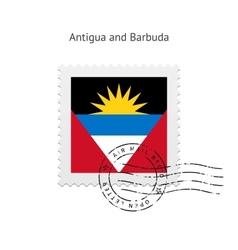 Antigua and Barbuda Flag Postage Stamp vector image