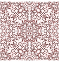 Mehndi henna design seamless pattern vector