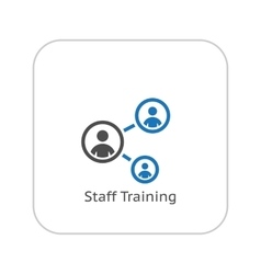 Staff training icon business concept flat design vector