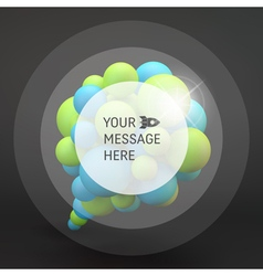 3d abstract spheres composition speech icon vector