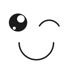 Happy face emoticon isolated icon design vector