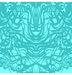 Abstract blue lace moire pattern vector