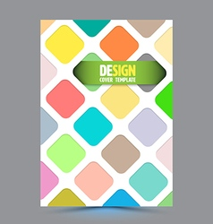 Abstract round rectangle design template layout vector