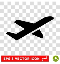 Airplane Takeoff Eps Icon vector image vector image