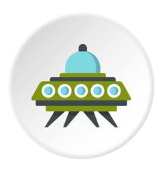 Alien spaceship icon circle vector