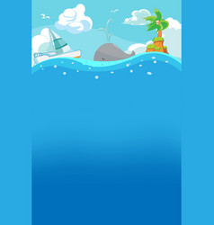 beach summer under water background vector image