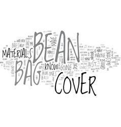 Bean bag cover text word cloud concept vector