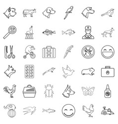 carry icons set outline style vector image vector image