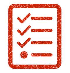 Checklist grunge icon vector