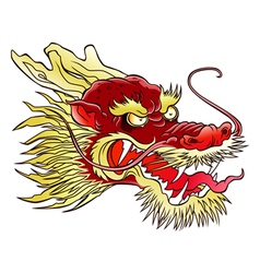 Chinese dragon head vector