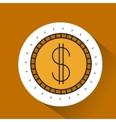 coin gold money icon vector image