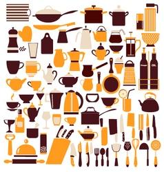 Cooking equipment cooking utensils vector