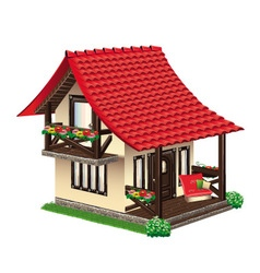 Cozy little house vector