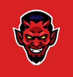 Devil head vector