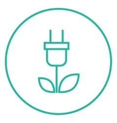 Eco green energy line icon vector image vector image