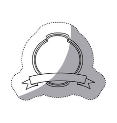 emblem plaque in blank icon vector image