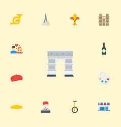Flat icons loaf love archway and other vector
