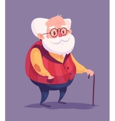 Funny old man character Isolated vector image vector image