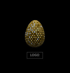 golden mosaic spherical shape vector image vector image