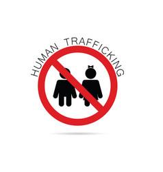 Human trafficking sign vector