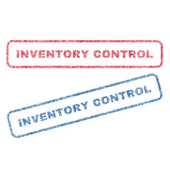 Inventory control textile stamps vector