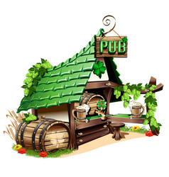Irish pub vector