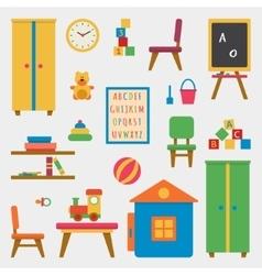 Kindergarten preschool playground vector image