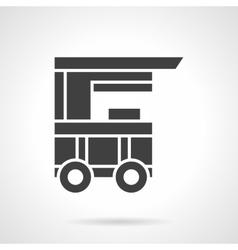 Kiosk on wheels black glyph style icon vector
