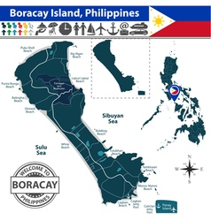 Map of Boracay island vector image