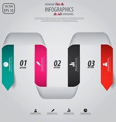 Minimal infographics option elements vector image vector image