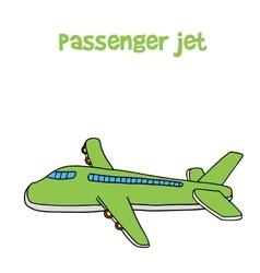 Passanger jet of cartoon design vector