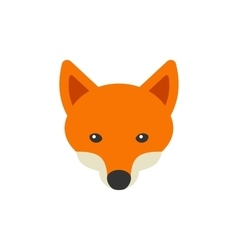 Red Fox Head Logo on White Background vector image vector image