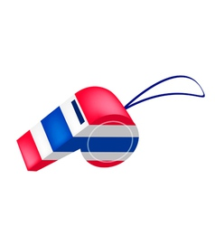 Red White and Blue Stripe on Thai Whistle vector image vector image
