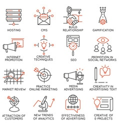 Set of icons related to business management - 32 vector image vector image