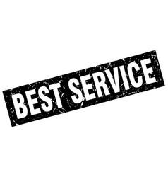 Square grunge black best service stamp vector