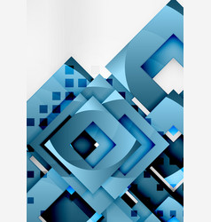 Squares geometric object in light 3d space vector